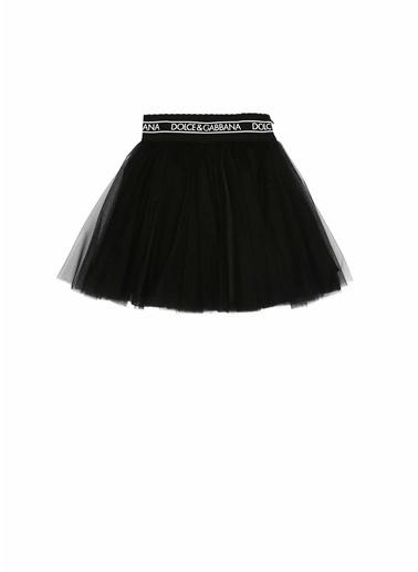 Dolce&Gabbana Dolce&Gabbana  Kontrast Logolu Kız Çocuk Etek 101620835 Siyah